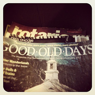 That's the title of this magazine I found -- Good Old Days. And see ...