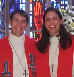 The Rev. Jeremy Ullrich and the Rev. Amanda Ullrich