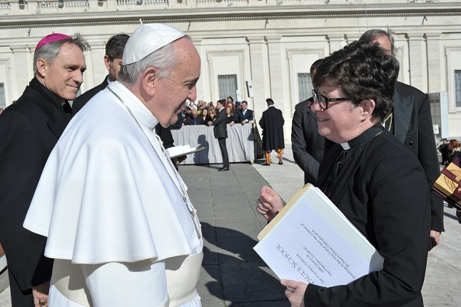 A meeting with Pope Francis